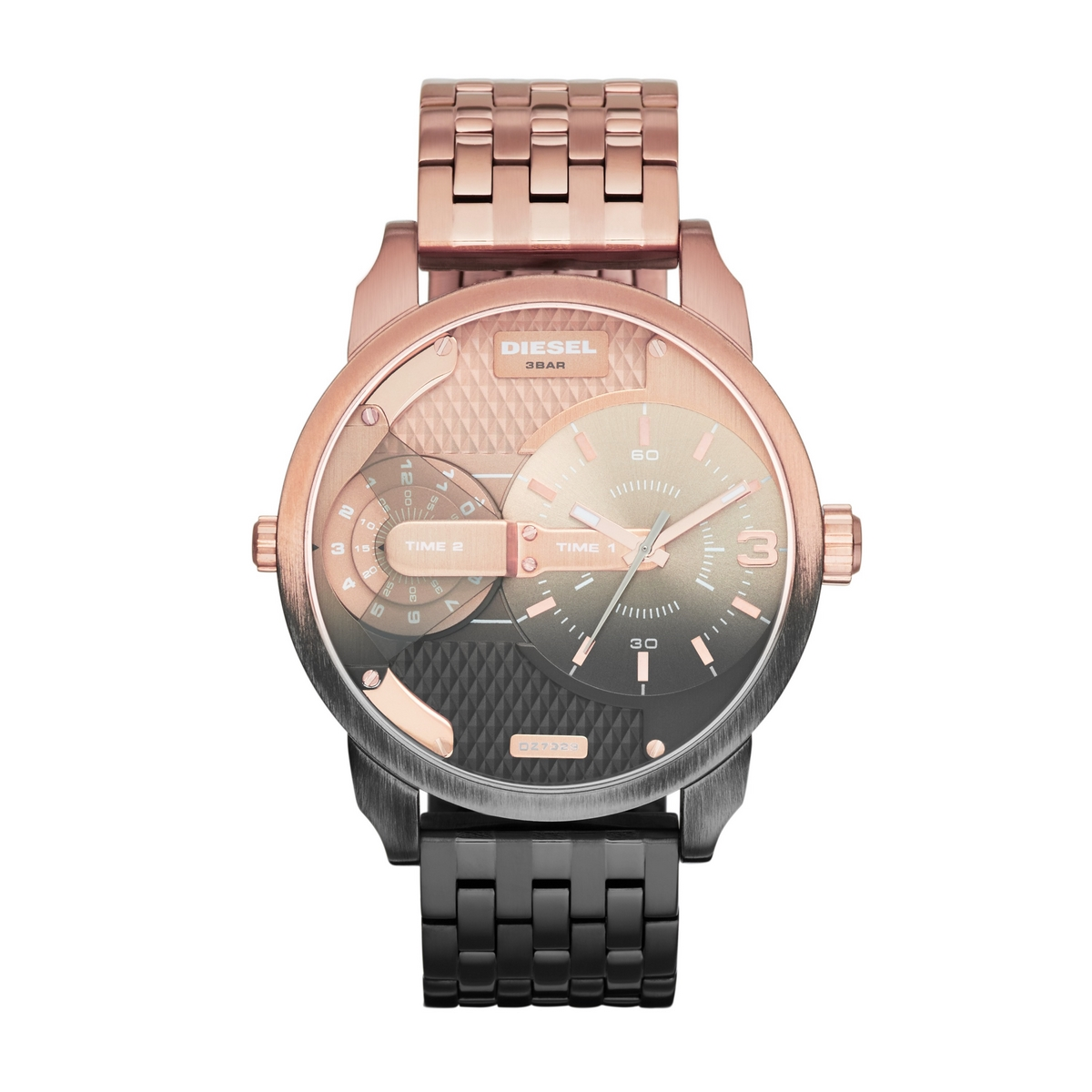 montre diesel or rose
