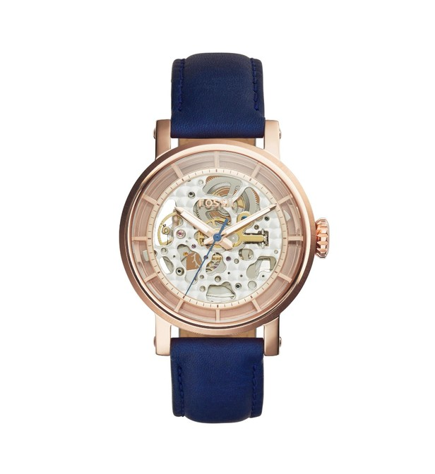 montre fossil bleu femme