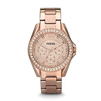montre fossil femme or rose