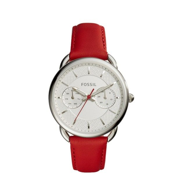 montre fossil rouge