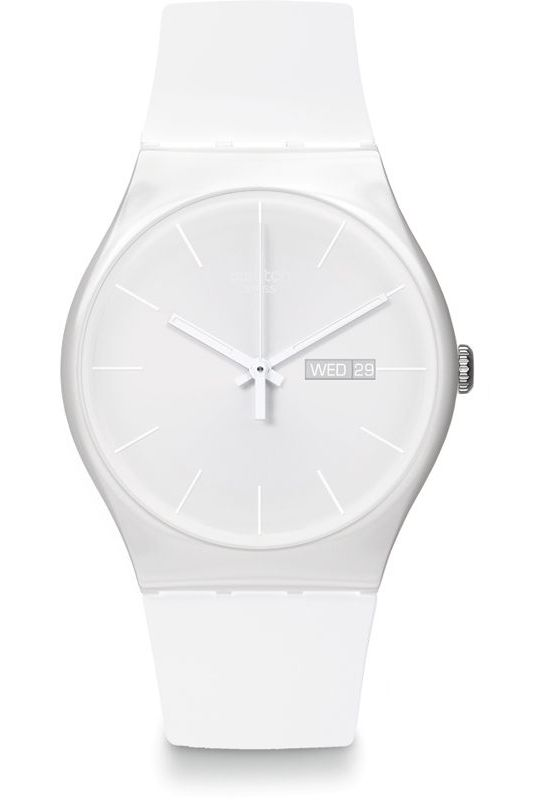 montre swatch blanche