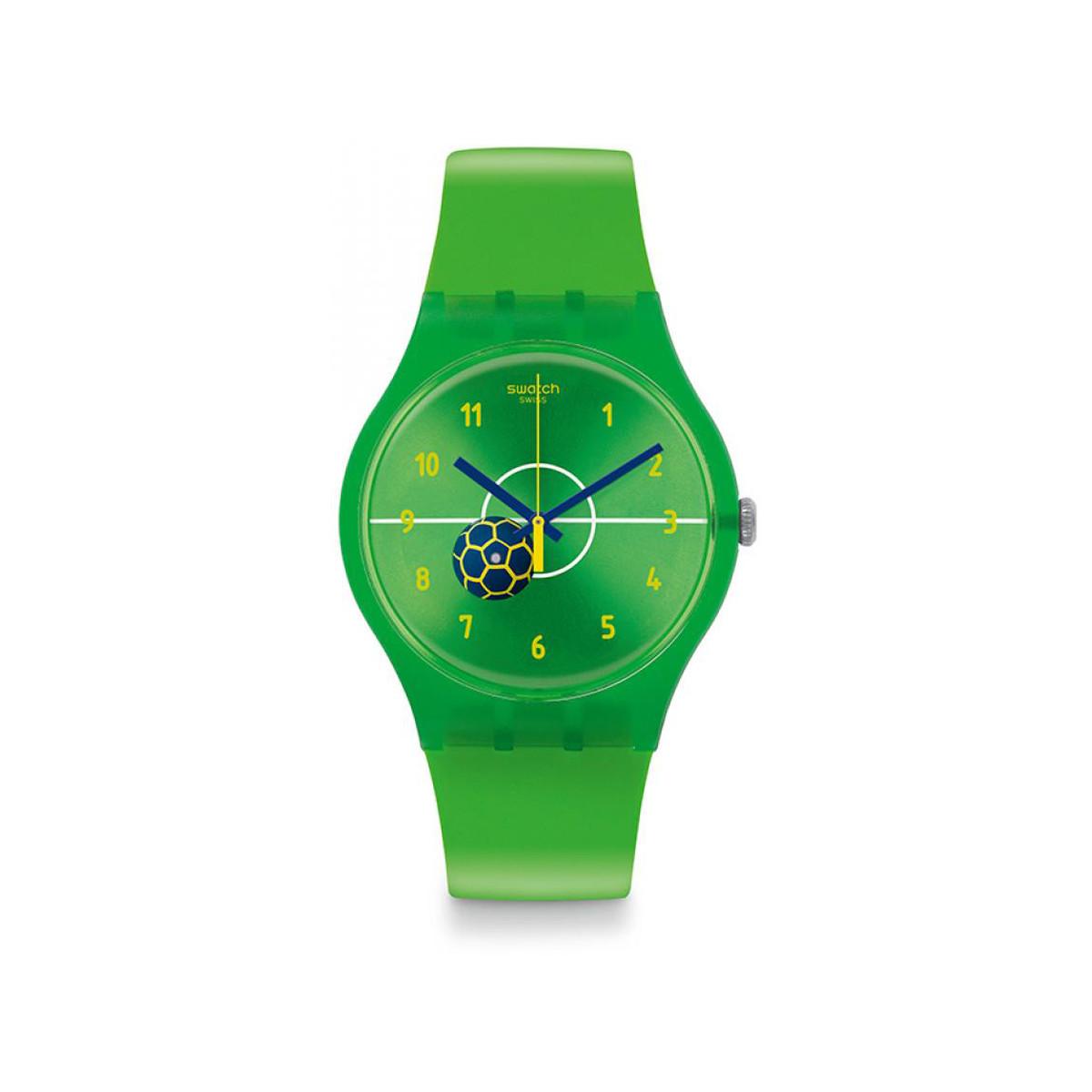 montre swatch verte