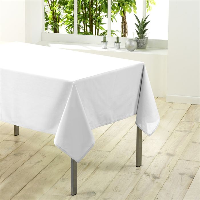 nappe blanche rectangulaire pas cher