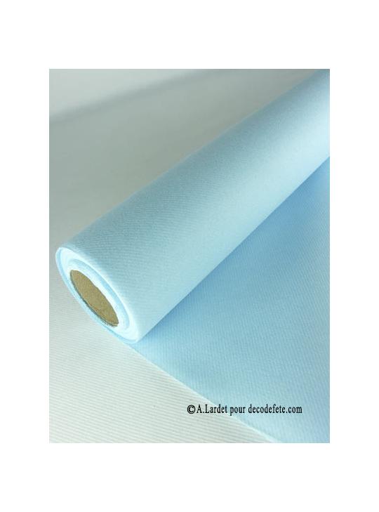 nappe papier bleu ciel