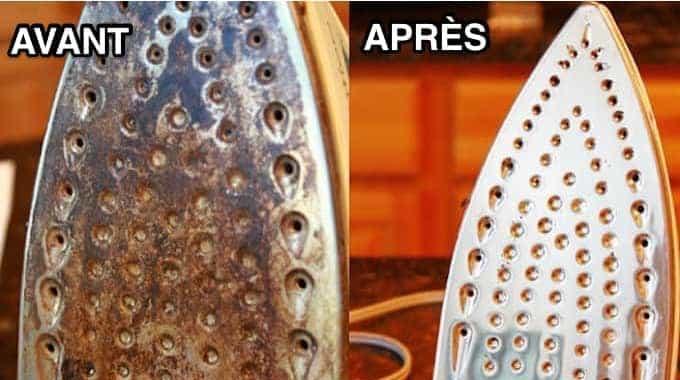 nettoyer le fer à repasser