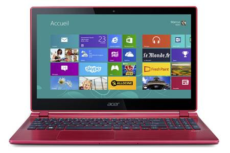 ordinateur acer rouge