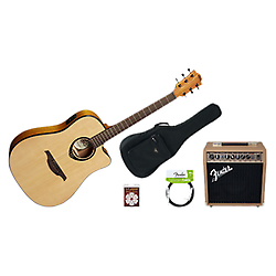 pack guitare electro acoustique fender