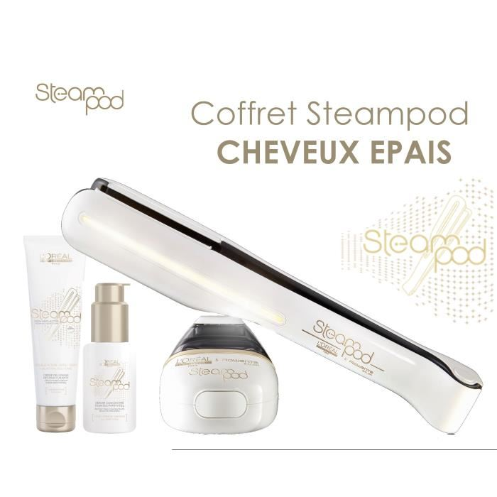 pack steampod 2.0 cheveux epais