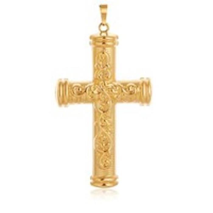 pendentif croix homme or