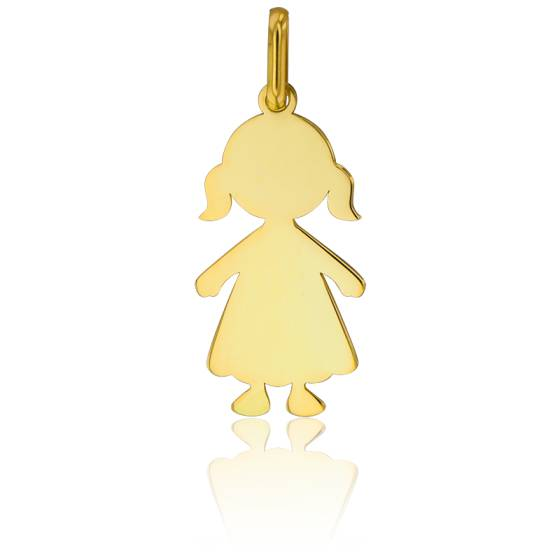 pendentif fille or