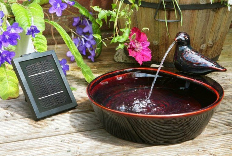 petite fontaine solaire