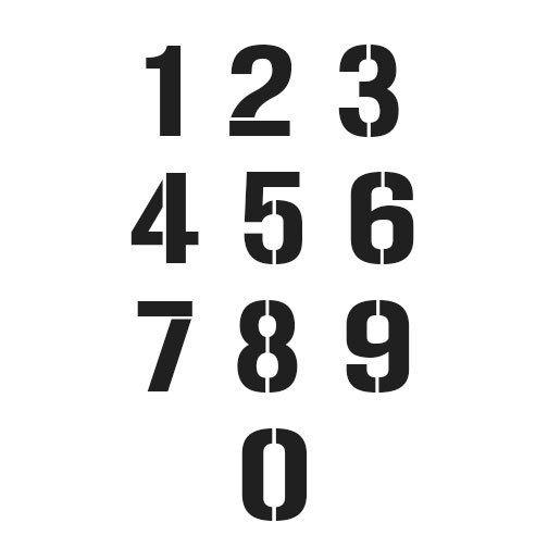 pochoir de chiffres a imprimer