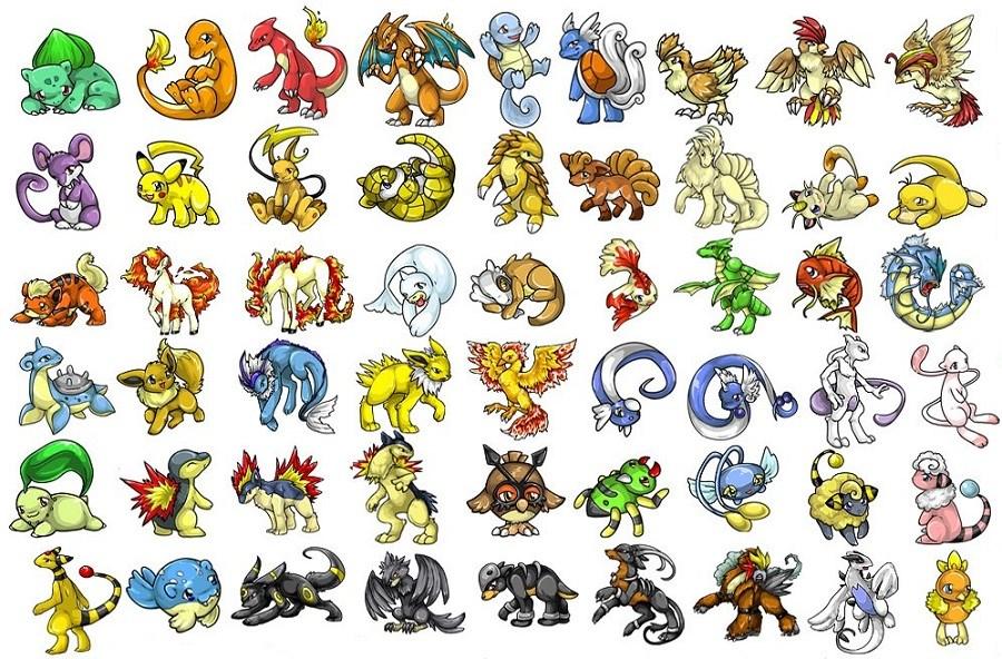 pokémon dessin en couleur