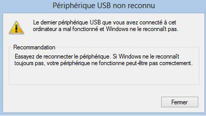 port usb ne fonctionne plus