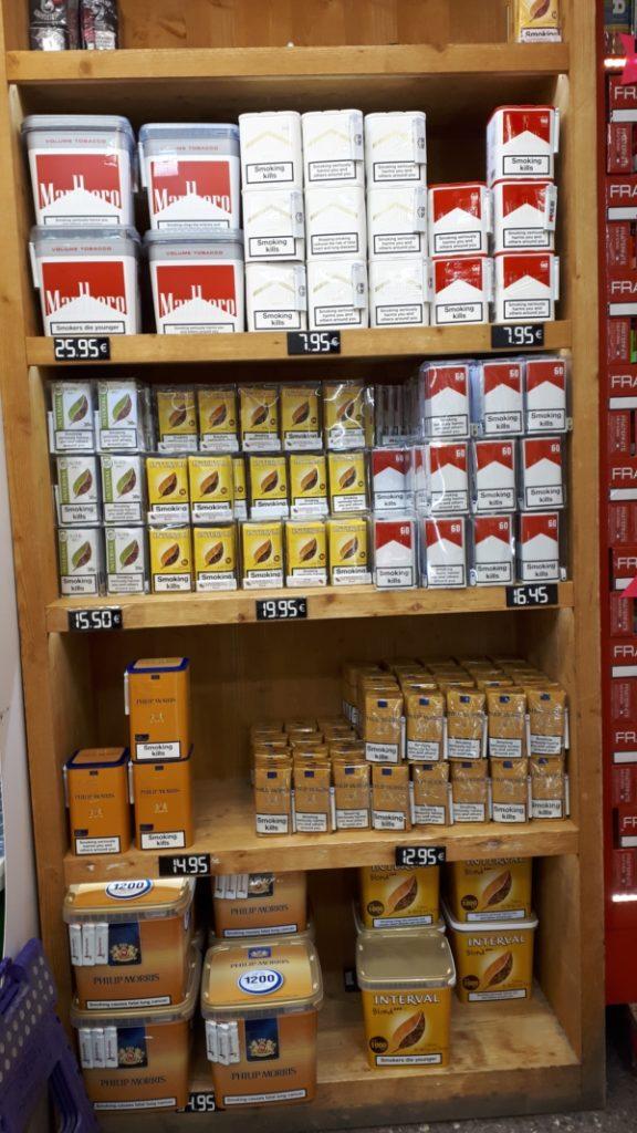 prix des cigarettes au pas de la case