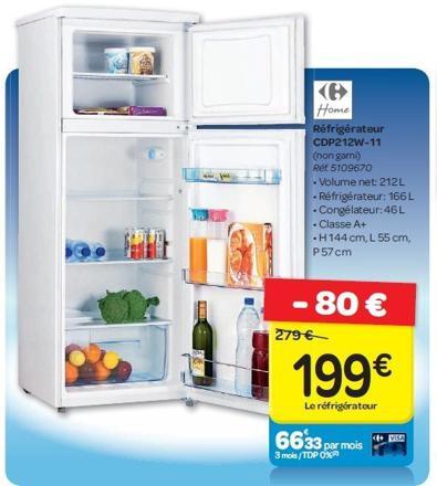 réfrigérateur en promotion
