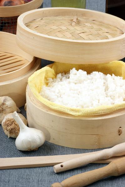 riz dans cuit vapeur