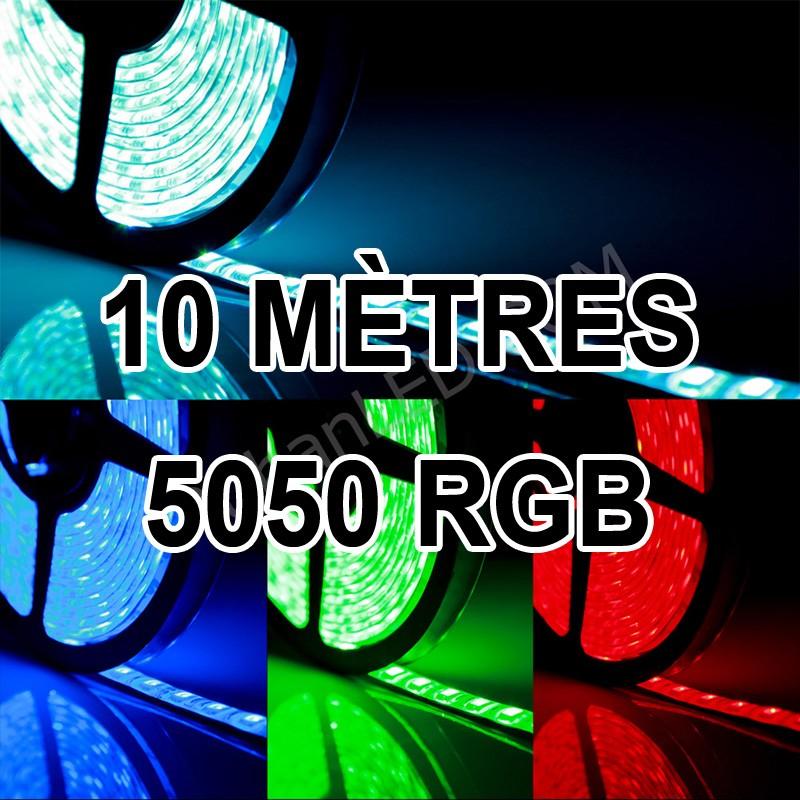 ruban led 10m multicolore