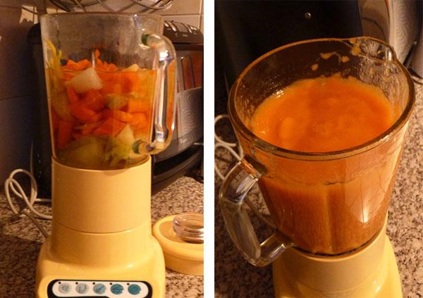soupe avec blender