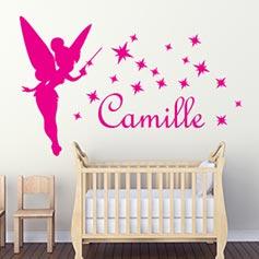 stickers chambre bébé fille
