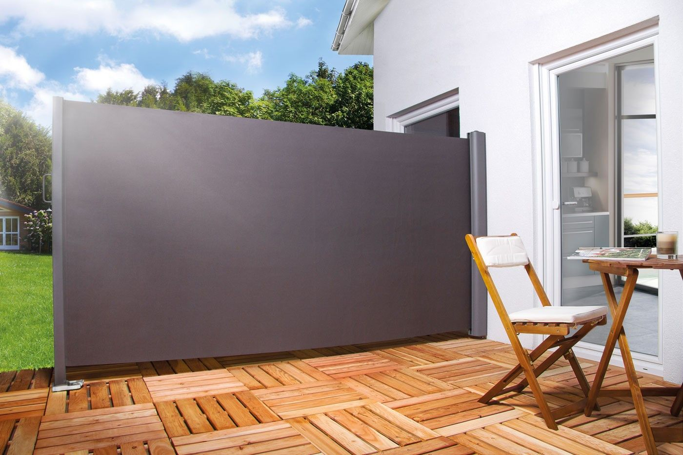 store lateral retractable terrasse