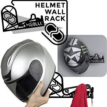 support mural casque moto