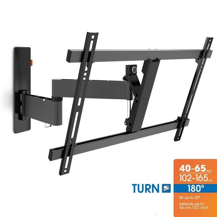 support tv mural inclinable et orientable