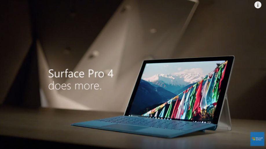 surface pro 4 promo