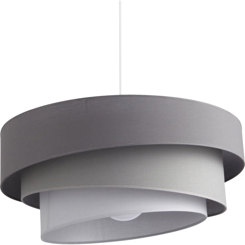 suspension luminaire gris