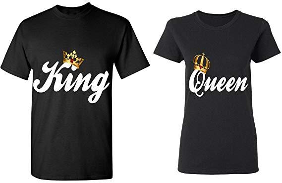 t shirt couple king queen