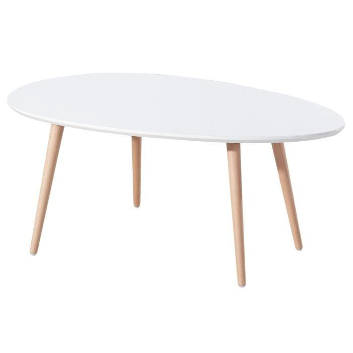 table basse blanche scandinave