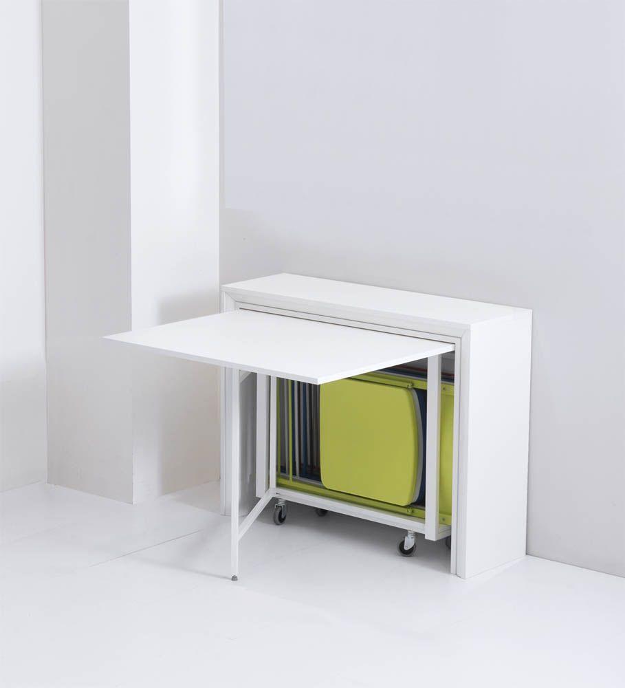 table pliante avec chaises intégrées
