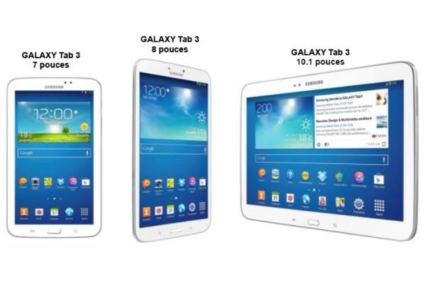 tablette samsung dimensions