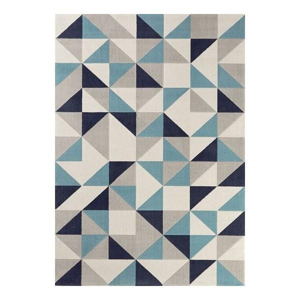 tapis bleu scandinave