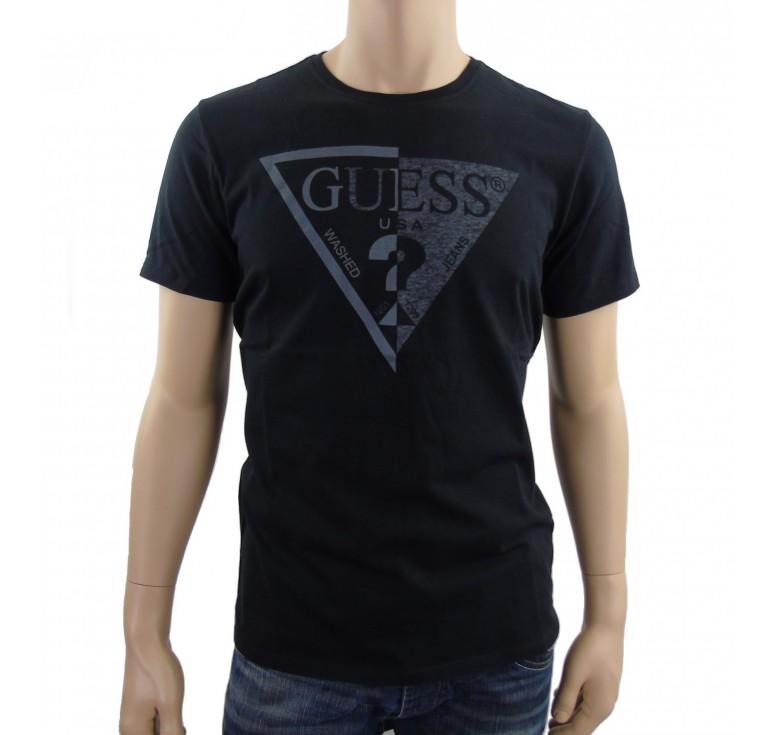 tee shirt guess homme noir