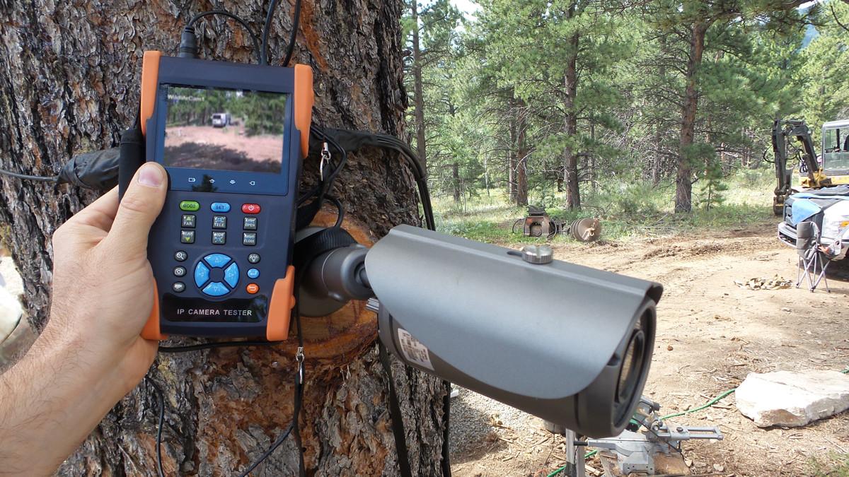 test camera surveillance