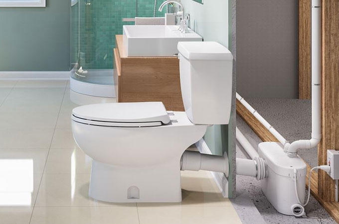 toilette avec broyeur