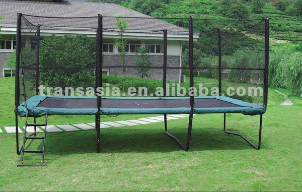 trampoline rectangulaire avec filet