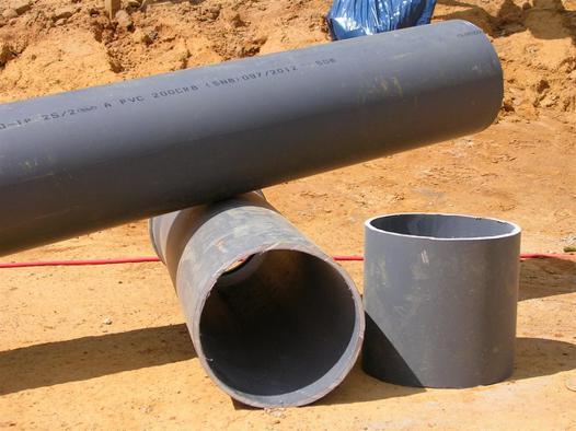 tube evacuation eau