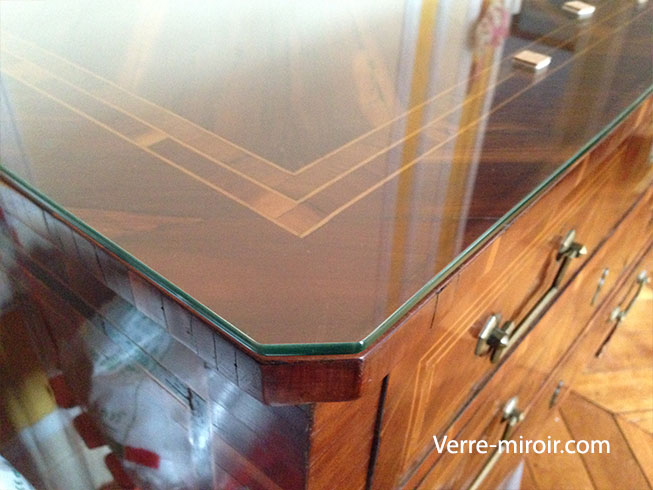 verre de protection pour table